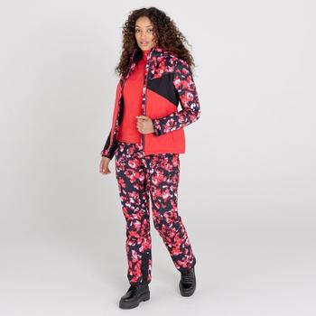 Women's Liberty II Waterproof Insulated Ski Pants Lollipop Red Blossom Print