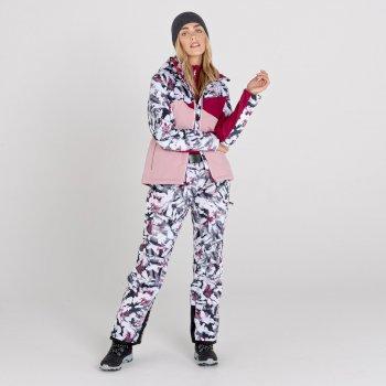Women's Liberty II Waterproof Insulated Ski Pants Powder Pink Tempest Print