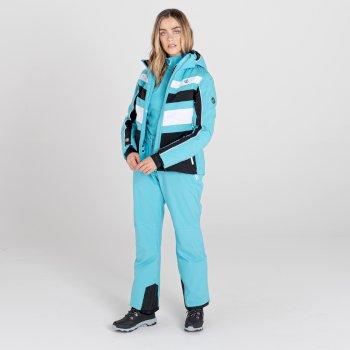 Women's Effused II Waterproof Ski Pants Azure Blue