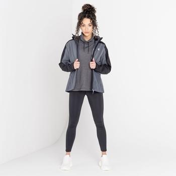 The Laura Whitmore Edit - Compete II Waterproof Jacket  Black Dark Storm Grey