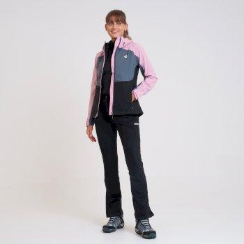 Women's Compete II Waterproof Jacket  Powder Pink Black