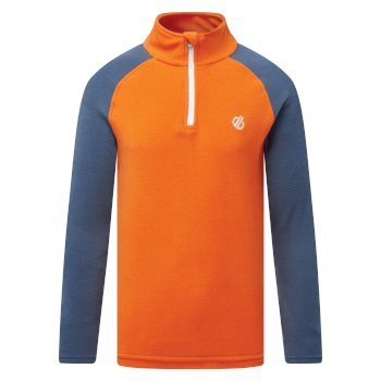 Kids' Freehand Half Zip Fleece Blaze Orange Dark Denim