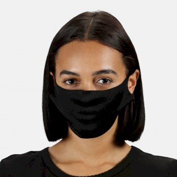 Adult's Anti-Bac Washable Face Covering 10 Pack Black