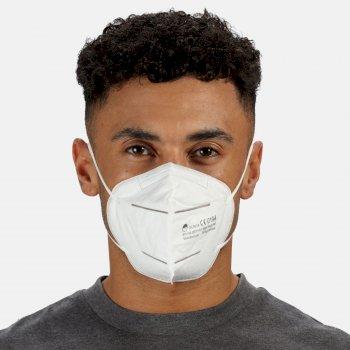 Boîte de 50 masques faciaux protecteurs Adulte type FFP2 avec filtrage des particules White